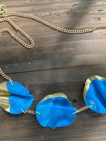 Blue Fimo Necklace