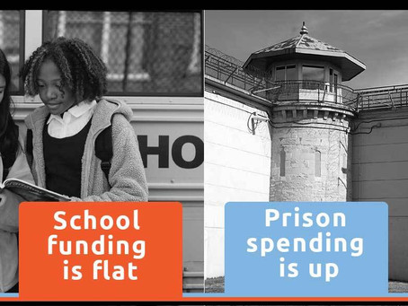 America's Priorities:  Why does the US spend twice as much on prisons as it does on education?