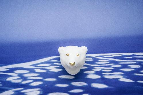 """Брошь """"Белый Медведь"""""""