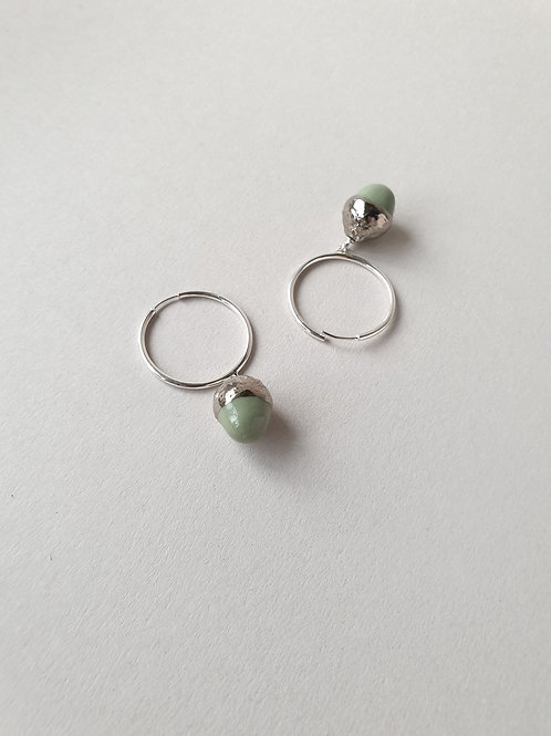 """Конго """"Дубки Малыши"""" в серебре диаметр кольца 25 мм"""