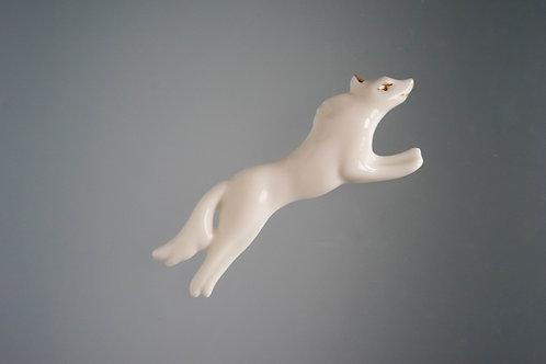 Брошь Белый Волк
