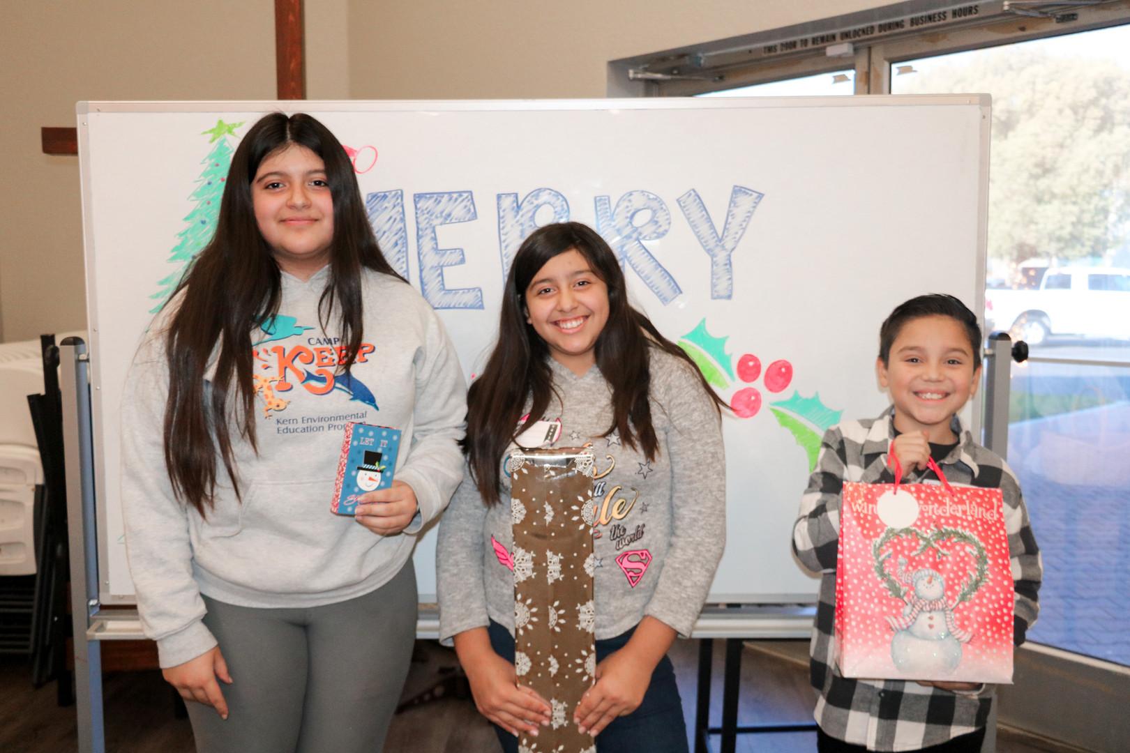 Kids winning prizes