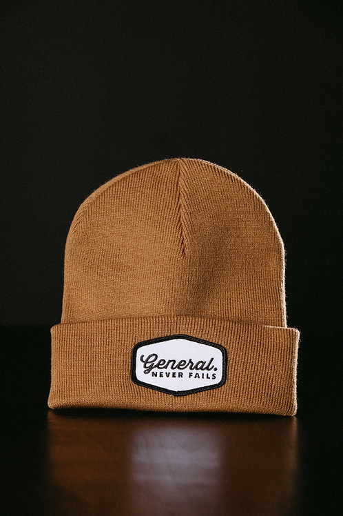 Camel - General Patch Beanie