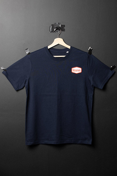 General Patch Tee - Navy/Red Logo