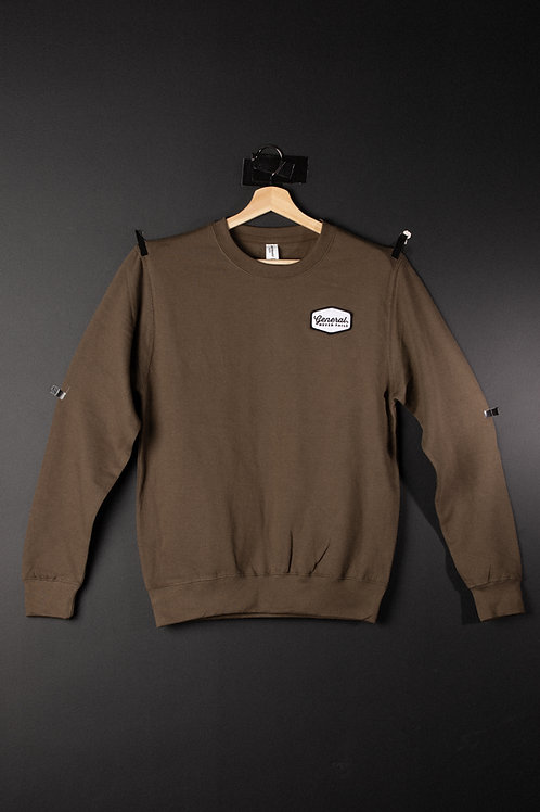 "General ""Never Fails"" Olive patch Sweatshirt"