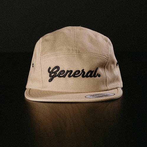 "Khaki ""General"" 5 panel Cap"