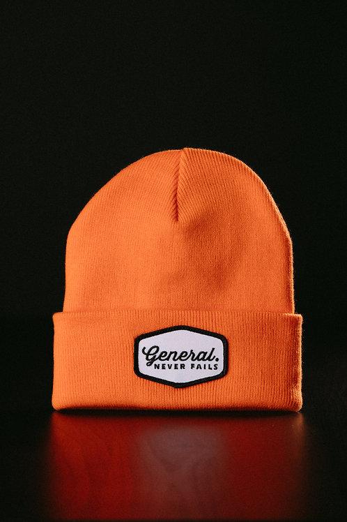 """Never Fails""Patch Beanie - Orange"