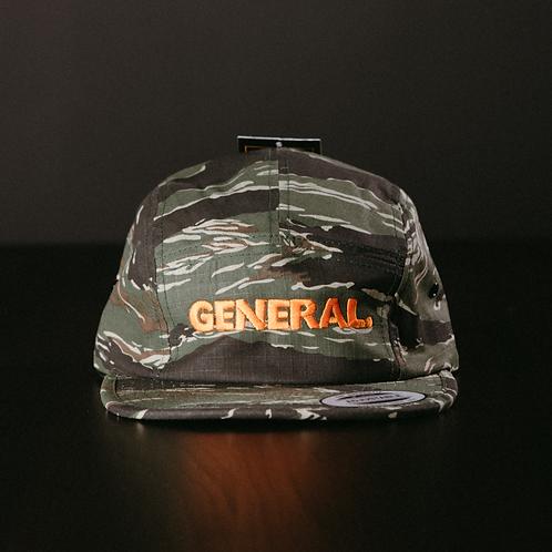 General 5-Panel cap - Tiger Camo/Orange