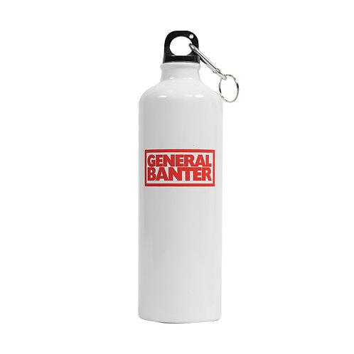 """General Banter"" aluminium water-bottle - White"