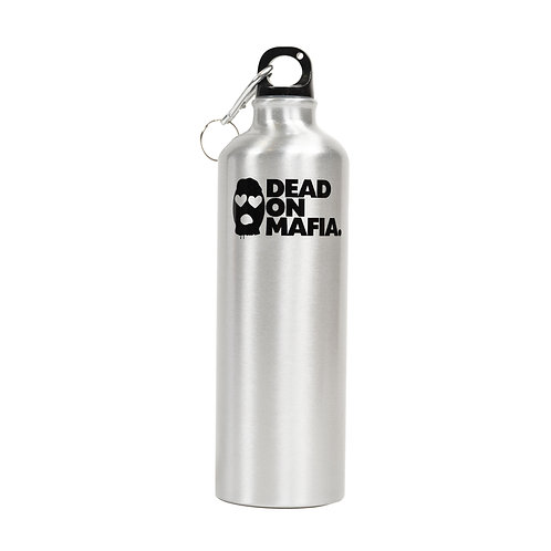 """Dead On Mafia"" Aluminium water bottle - Silver"