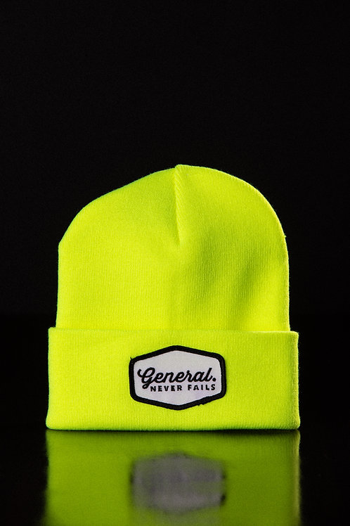 Flourescent Yellow - General Patch Beanie
