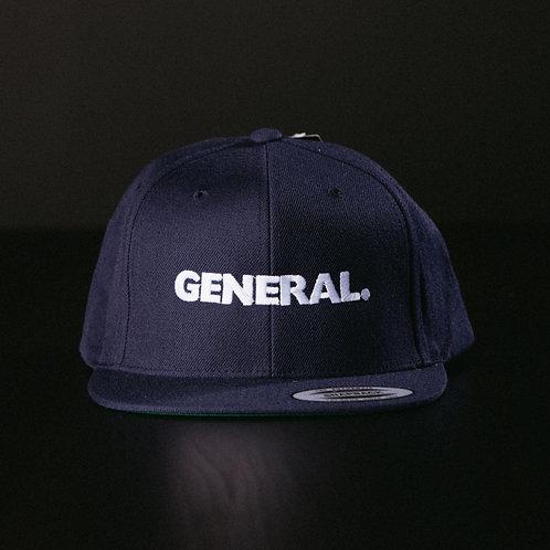 "Navy ""General"" Premium Snapback"