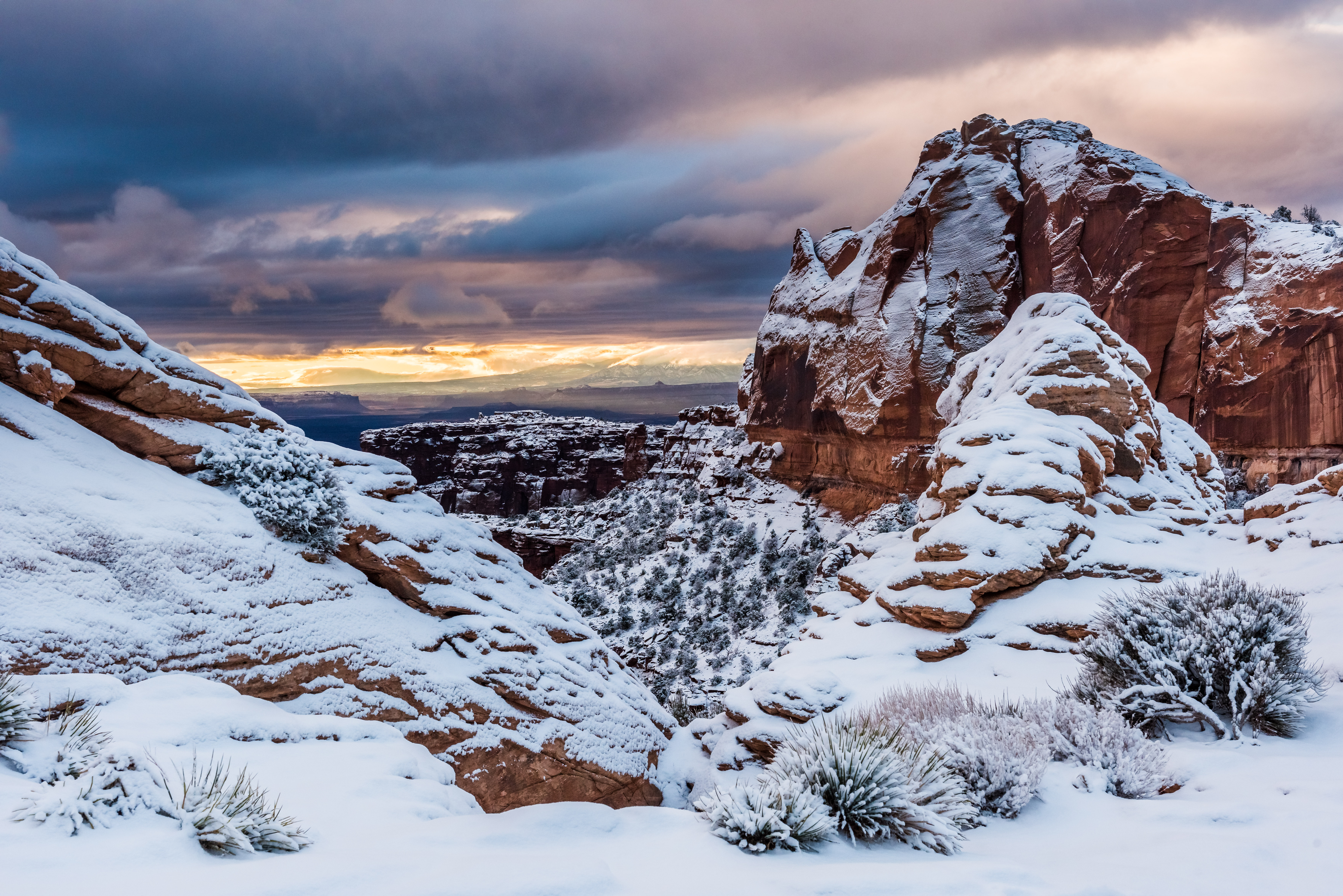 Snow Covered Canyons - Canyonlands