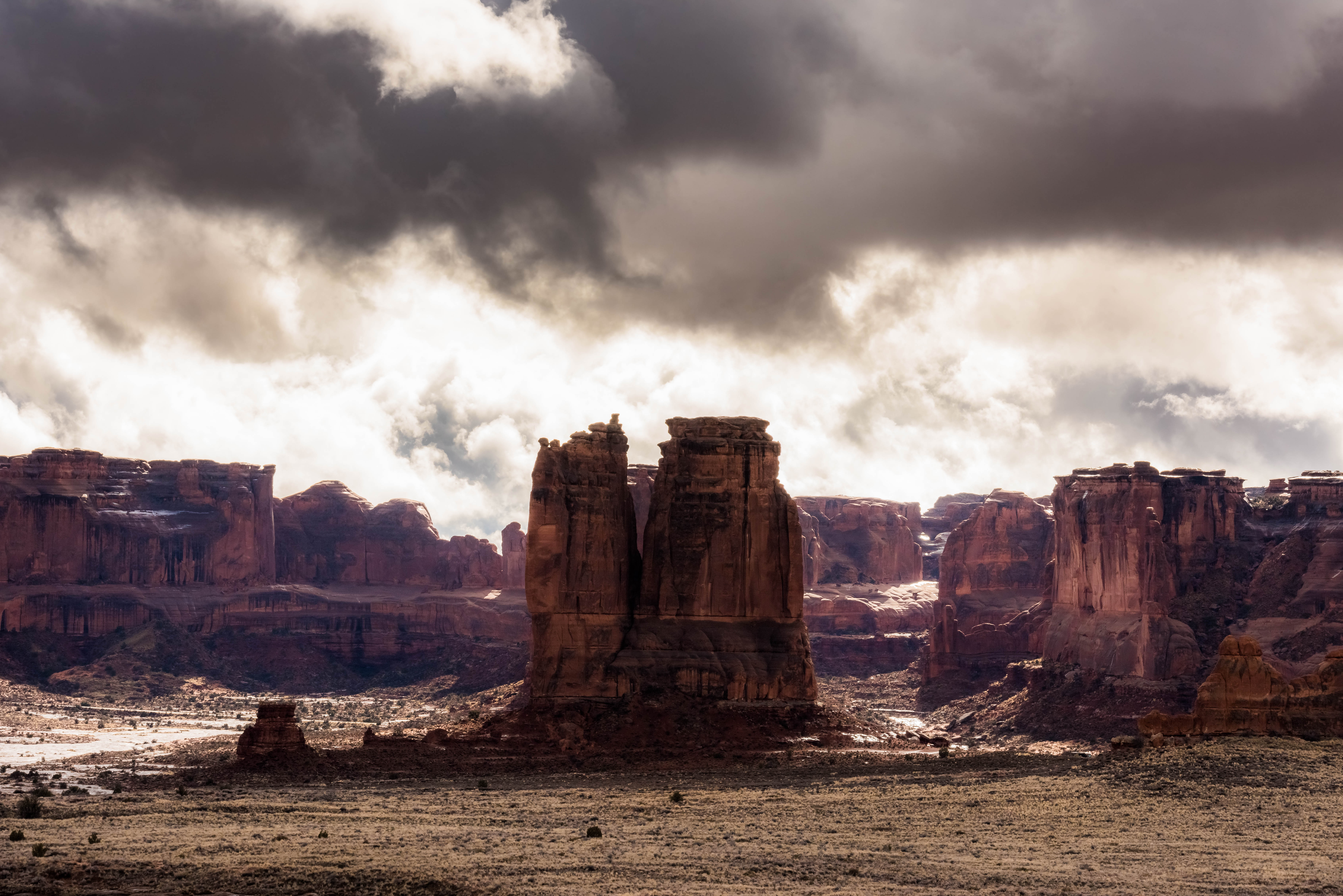 Cloud Covered - Arches NP