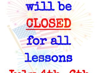 RnRHS CLOSED July 4-6