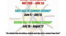 RnRHS Summer Lessons Schedule