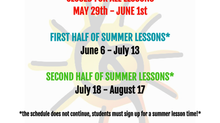 RnRHS Summer Lessons Schedule