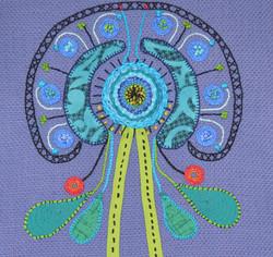Hairnet Alien Flower (closeup)