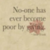 No One has ever become poor by giving.jp