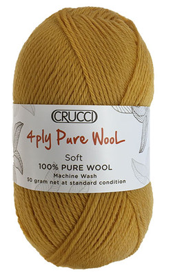Crucci 4ply pure wool soft machine wash