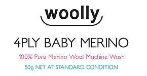 4ply Baby Merino Label