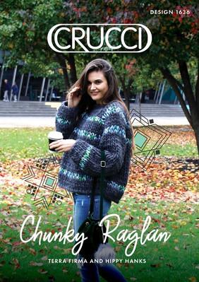 CRUCCI 1636 Chunky Raglan Sweater Pattern