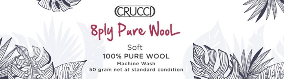 Crucci 8ply Pure Wool Soft Website heade