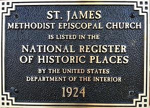 National Regist of Historic Places plaque