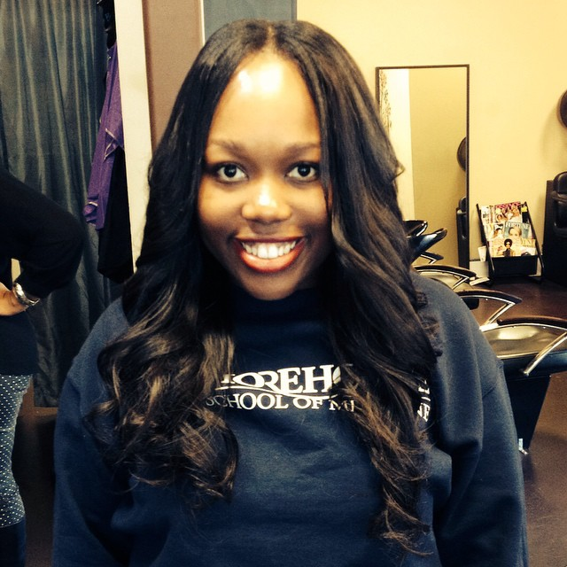 Flawless sew in weave! Spelman Alumni Beauty with _iloveindique hair installed