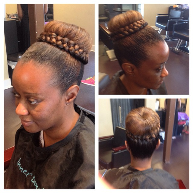 Formal updo styled by Gina