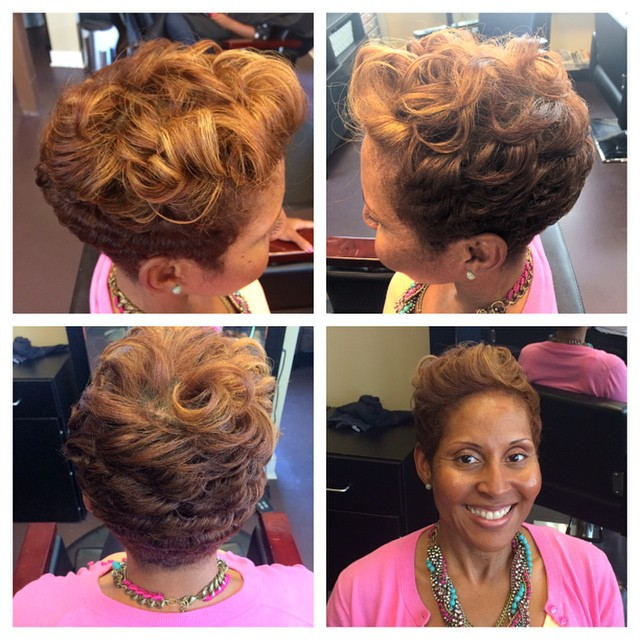 Laid and slayed, fried and dyed swooped to the side lol styled By Shaniqua
