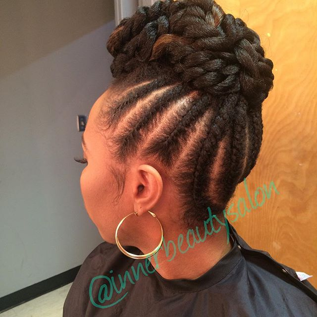 This twist set updo is giving us LIFE!! #protectivestyles #naturalupdo #healthyhair #haircare #natur
