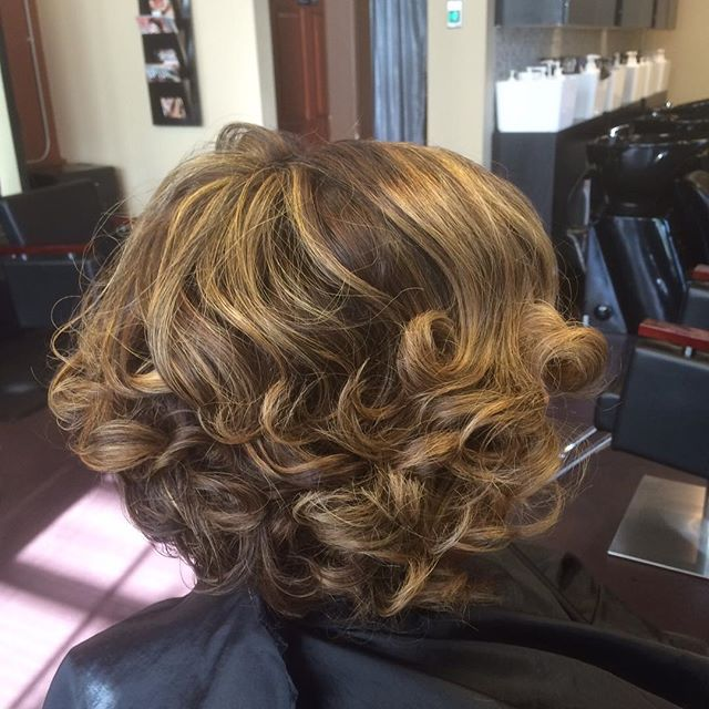 Cut and Color and Curls