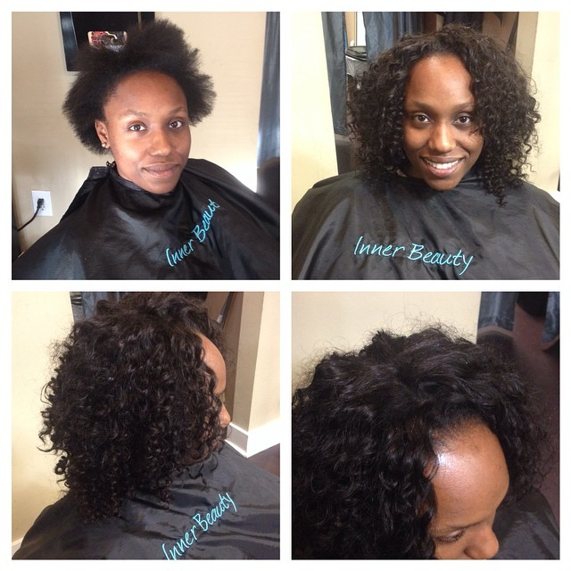 Transformation!! Full sewin with lace closure from _queenvirginremy #sewin #protectivestyle #healthy