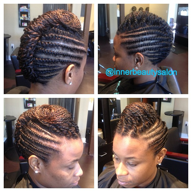Natural hair styled by Shaniqua #protectivestyle #naturalhair #healthyhair #updo #twiststyle #atlant
