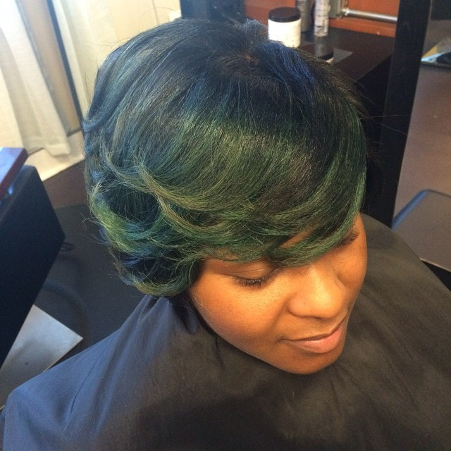 Aren't you green with envy! #hairmaintenace #teamnatural #teamhealtyhair #innerbeautysalon #innerbea