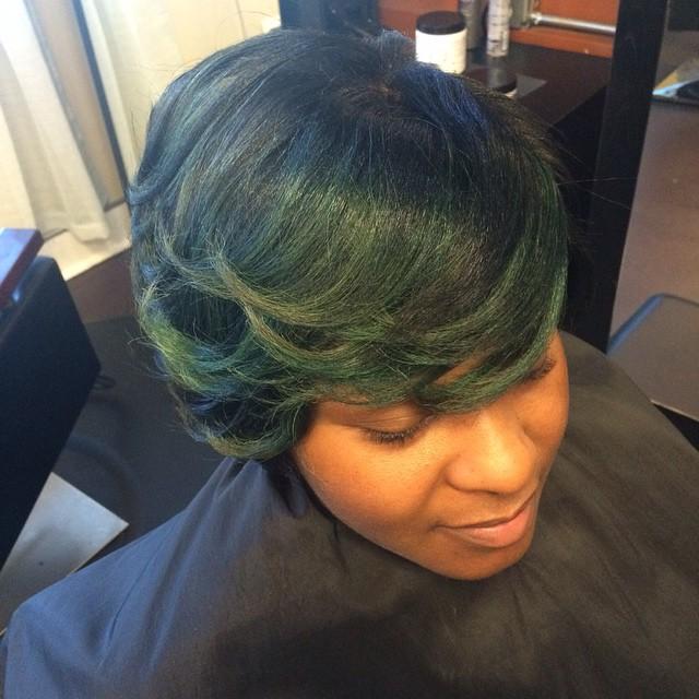 Aren't you green with envy! #hairmaintenace #teamnatural #teamhealtyhair #innerbeautysalon #innerbea