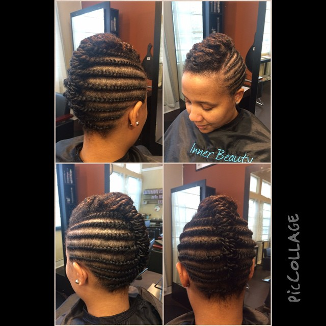 Braided Updo by Shaniqua! #innerbeauty #innerbeautysalon #teamnatural #teamhealthyhair #beautiful #g