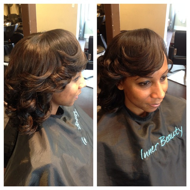Styled Partial Sew-in
