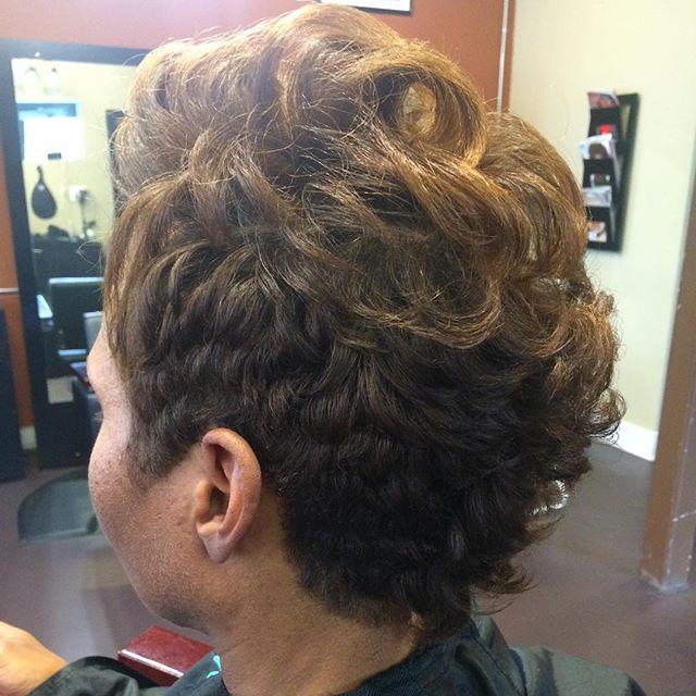 Short and funky natural client!! #innerbeauty #atlantastylist #naturalhair #healthyhair #haircare #a