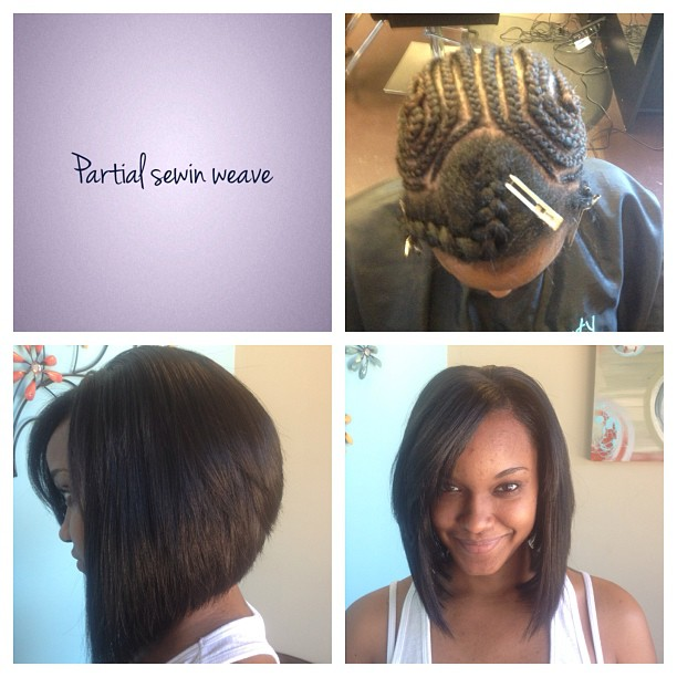 Styled by Shaniqua #naturalhair #weave #weaves #protectivestyle #protectivestyles #bob #bobcuts #hea