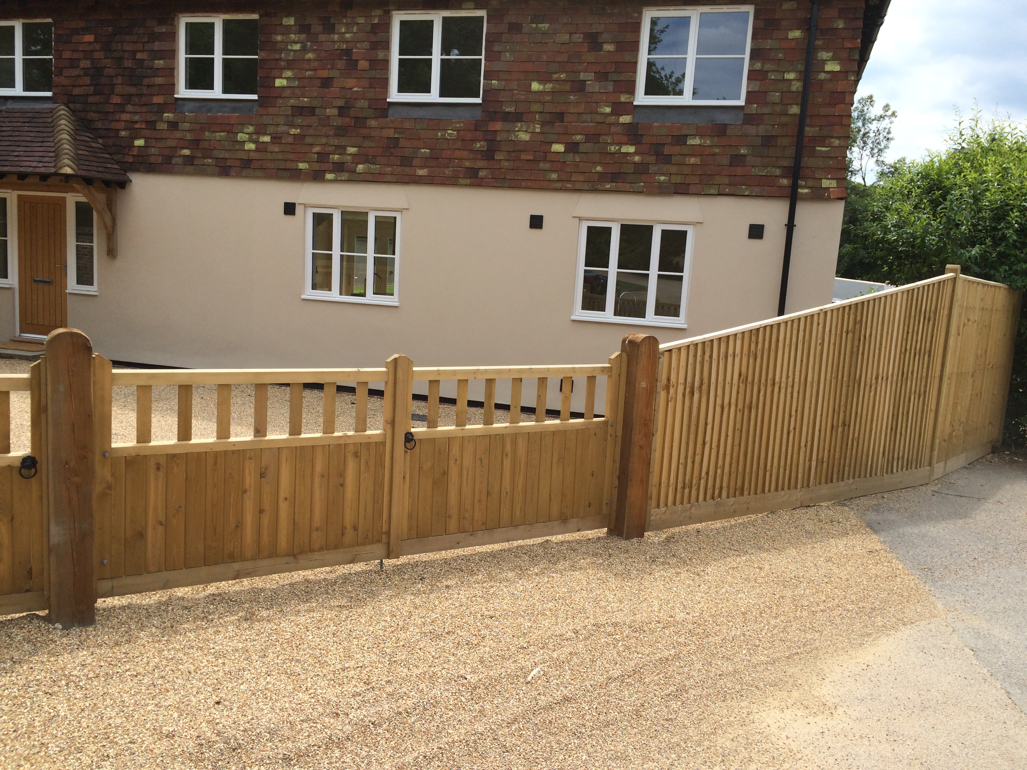 Hampton Gates with Closeboard Fencing