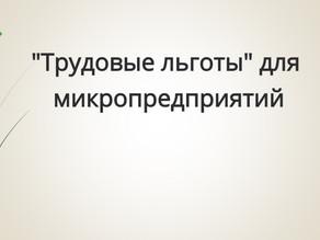 """""""Трудовые льготы"""" для микропредприятий"""