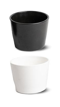 Porcelain Indoor Pot (White, Black)