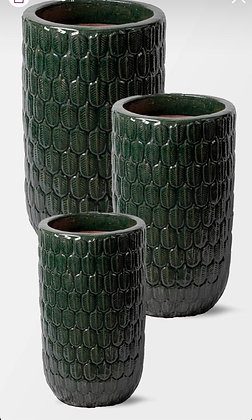 Outdoor Green Glazed Pot