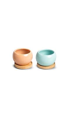 Porcelain Indoor Pot (Different Colors)