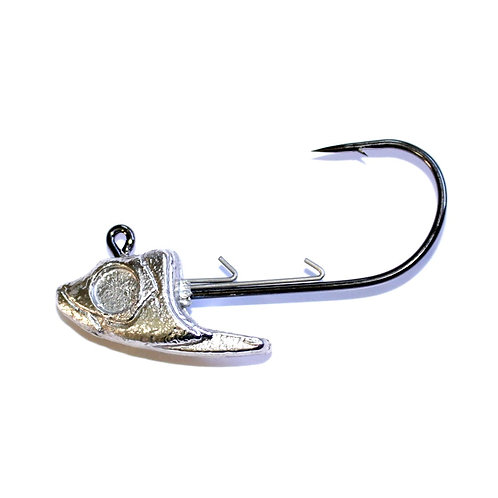 5/8 oz Minnow Head Jig 6/0 hook & bait keeper