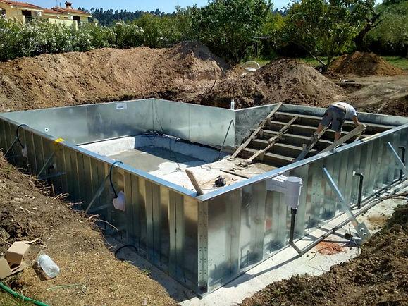 piscina painel aço