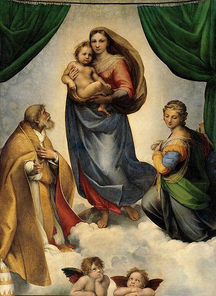 RAFAEL_-_Madonna_Sixtina_(Gemäldegalerie