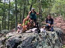 Hiking at Crowders Mountain